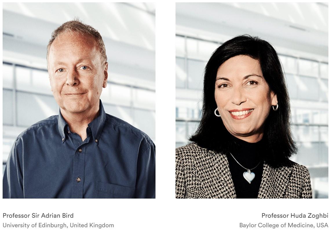 Professor Huda Zoghbi and Professor Sir Adrian Bird have been awarded The Brain Prize 2020
